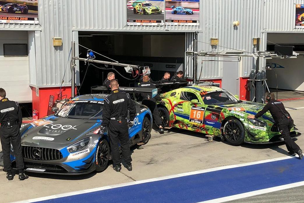 24h Rennen Dubai AMG GT3 Januar 2018